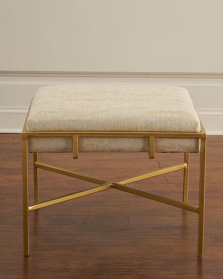 John-Richard Collection Gold Metal Ottoman