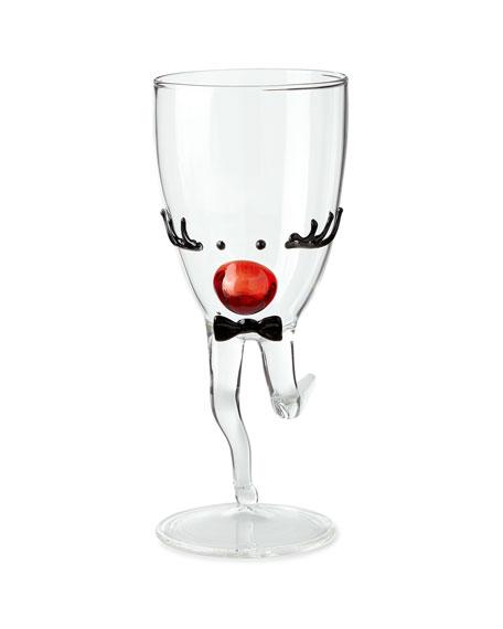 Massimo Lunardon Mr. Reindeer Drinking Glass with Stem