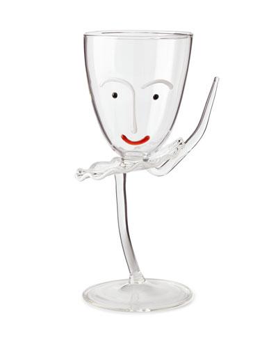 Arabesque Drinking Glass with Stem