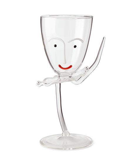 Massimo Lunardon Arabesque Drinking Glass with Stem