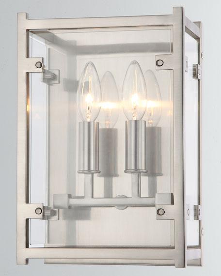 Danbury 2-Light Brushed Nickel Sconce