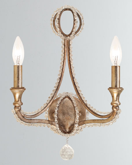 Garland 2-Light Distressed Twilight Sconce
