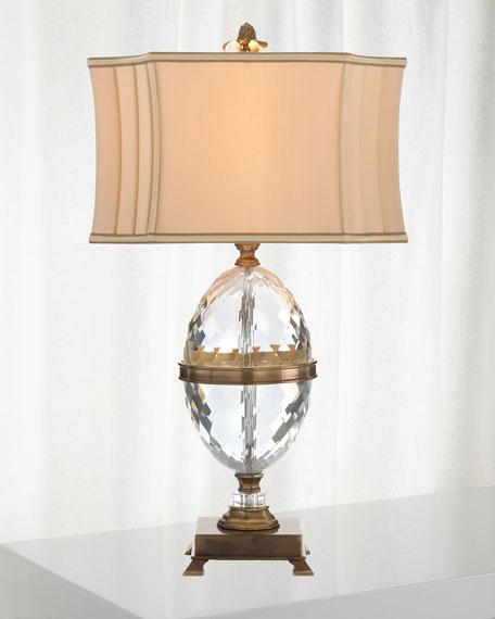 John-Richard Collection Cut Crystal Egg Table Lamp