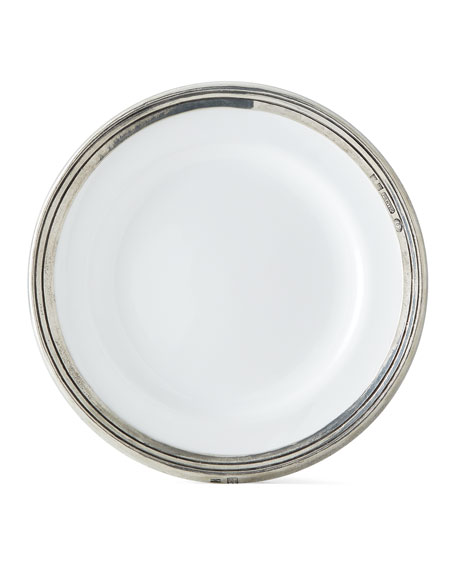 Neiman Marcus Pewter and Ceramic Dessert Plate