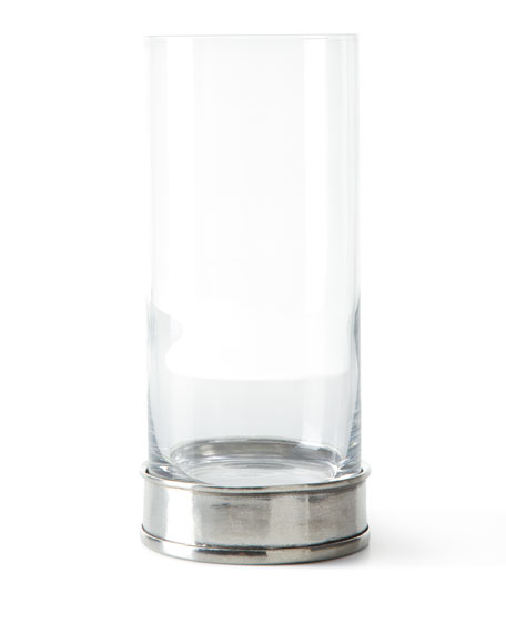 Neiman Marcus Pewter and Glass Highball