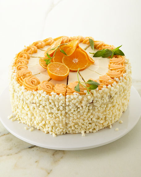 "Annie Pie's Bakery 10"" White Chocolate Orange Creamsicle Cake"