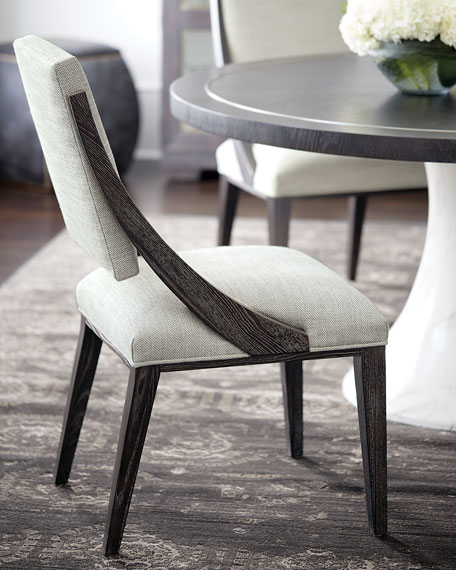 Pair of Decorage Curved Back Dining Side Chairs
