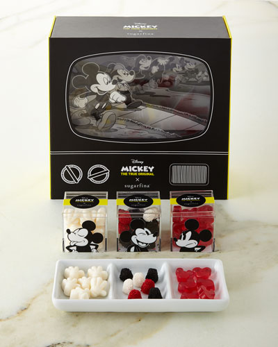 Disney Mickey Mouse  Collector 3-Piece Candy Bento Box