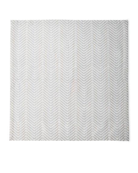 Kim Seybert Drift Zigzag Napkin, White/Gold/Silver