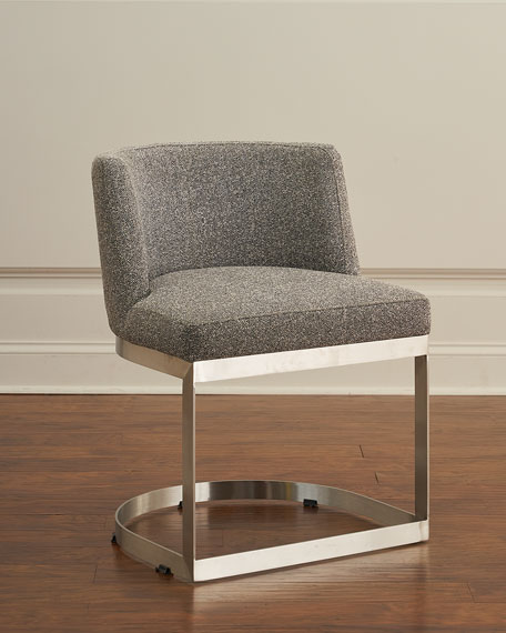 Highgate Tweed & Stainless Dining Side Chair