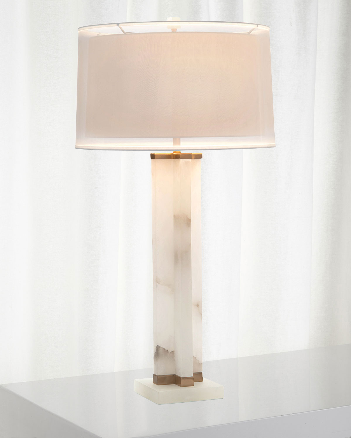 John-Richard Collection Alabaster Cross Table Lamp