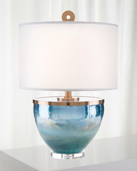 John-Richard Collection Islamorada Glass Table Lamp