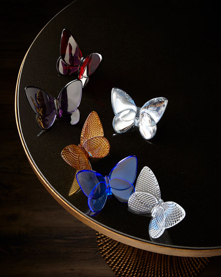 Image 2 of 2: Baccarat 20K Gold Diamant Lucky Butterfly