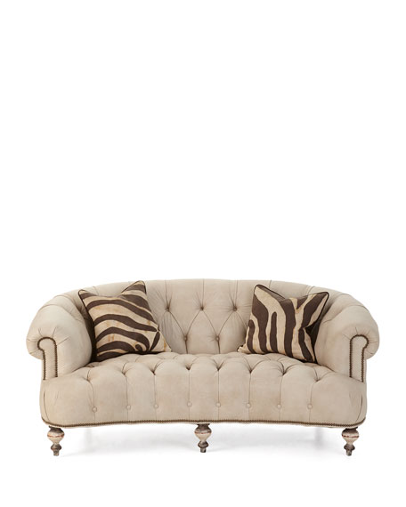 """Old Hickory Tannery Xantha Tufted Leather Sofa 71"""""""
