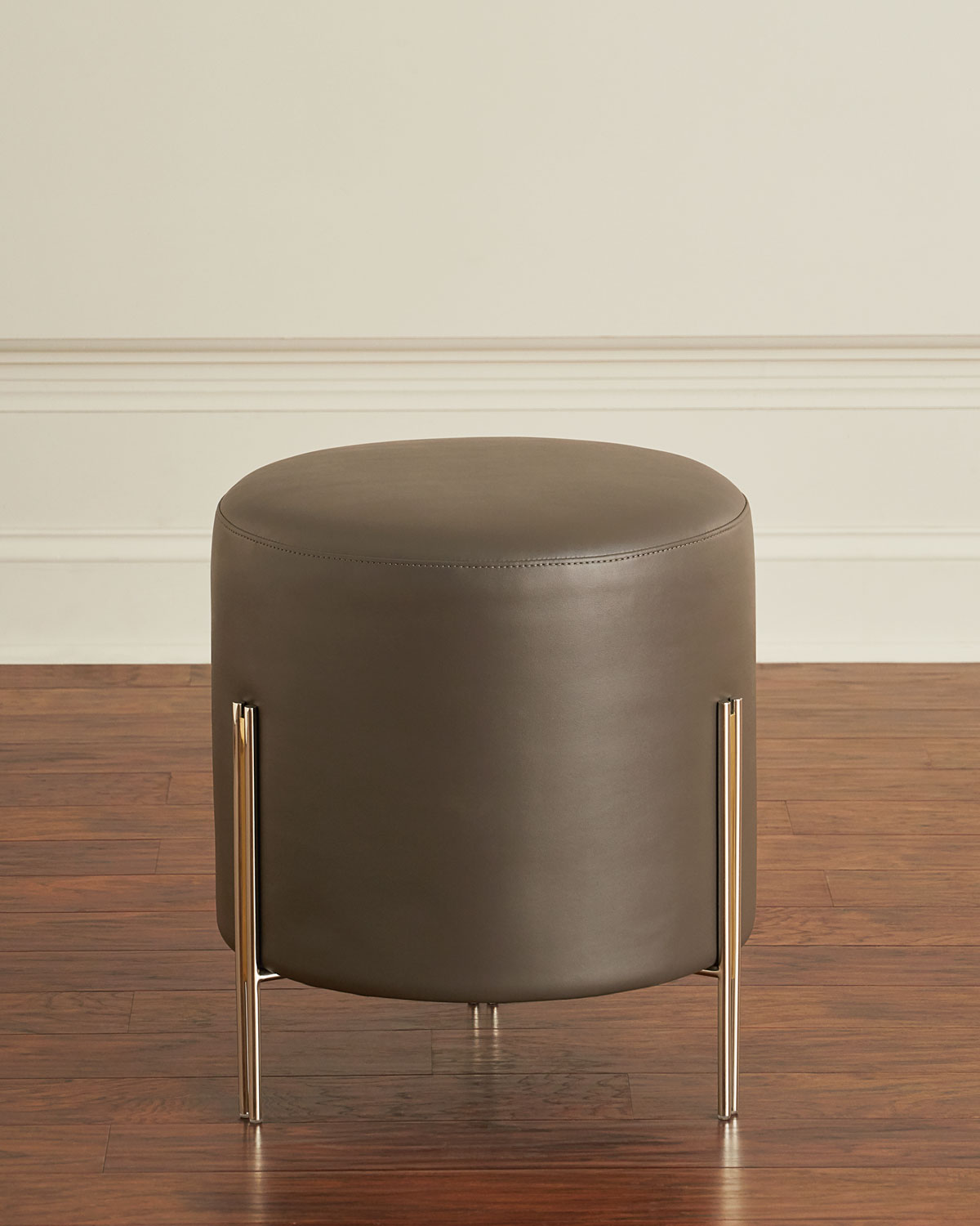 Enjoyable Betina Faux Leather Round Ottoman Stool Cjindustries Chair Design For Home Cjindustriesco