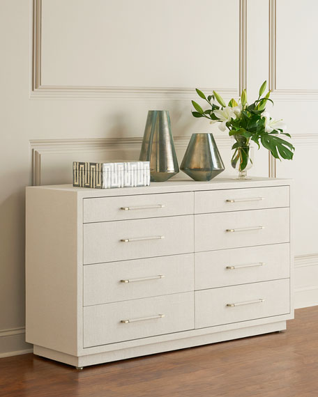 Image 1 of 2: Interlude Home Robyn 8-Drawer Dresser, White