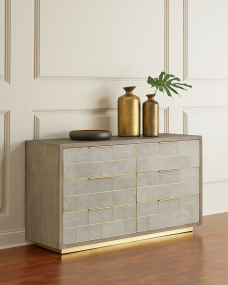 Interlude Home Olivia Shagreen 6-Drawer Chest
