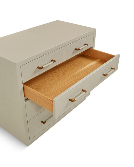 Interlude Home Robyn 5-Drawer Chest, Gray