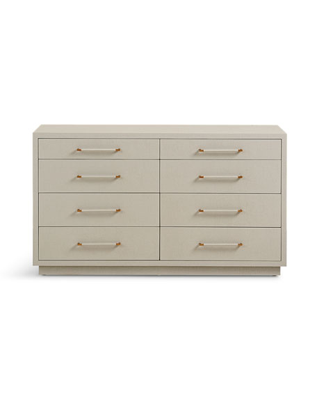 Interlude Home Robyn 8-Drawer Dresser, Gray