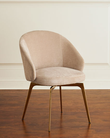 Image 1 of 3: Interlude Home Cynthia Chenille Dining Chair