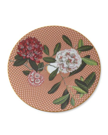 Raynaud Tresor Fleuri Rhododendron Dessert Plate