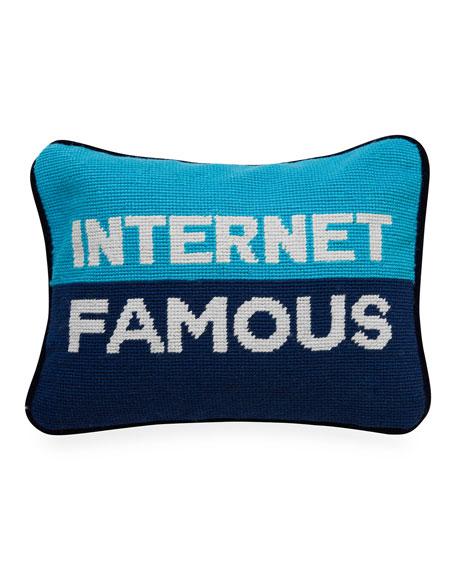 Jonathan Adler Internet Famous Needlepoint Personality Pillow