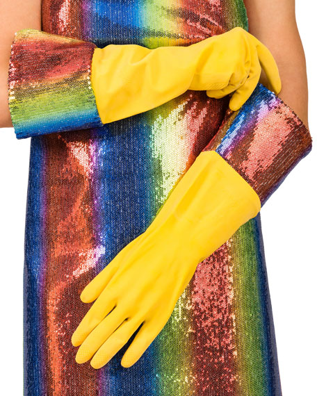 Sequin Dish Gloves