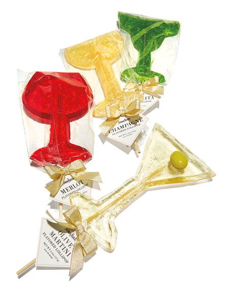Assorted Cocktail Lollipops, Set of 4