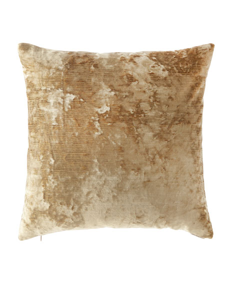 D.V. Kap Home Miranda Textured Pillow, Gold