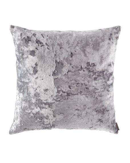 D.V. Kap Home Miranda Textured Pillow, Silver