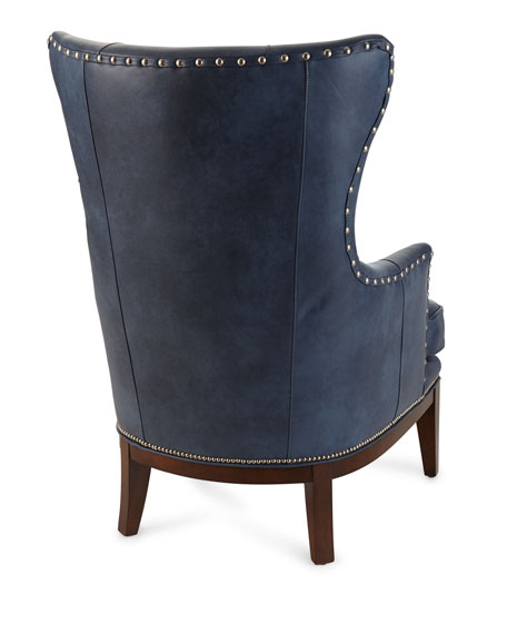 Bradington-Young McAllister Leather Wing Chair