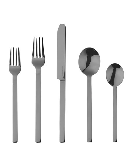 Mepra Stile Nero 5-Piece Flatware Place Setting