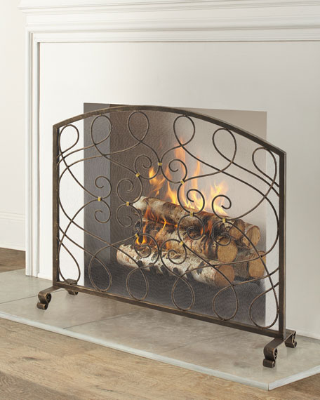 Fireplace Screen with Loop Design