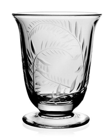 "William Yeoward Jasmine Etched Glass Flower Vase - 6"""