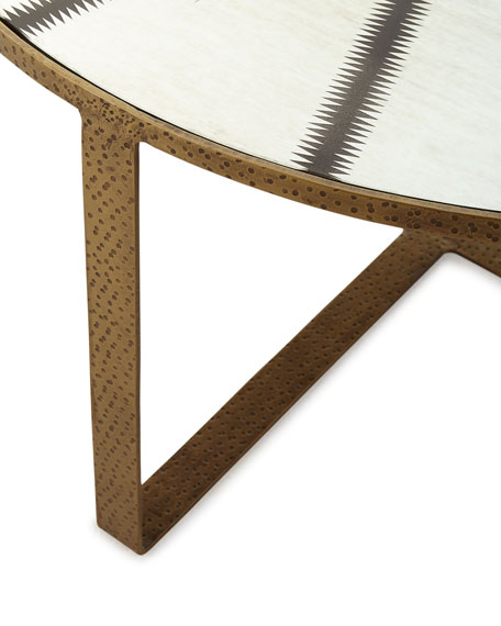Image 2 of 3: Celerie Kemble for Arteriors Nomad Cocktail Table