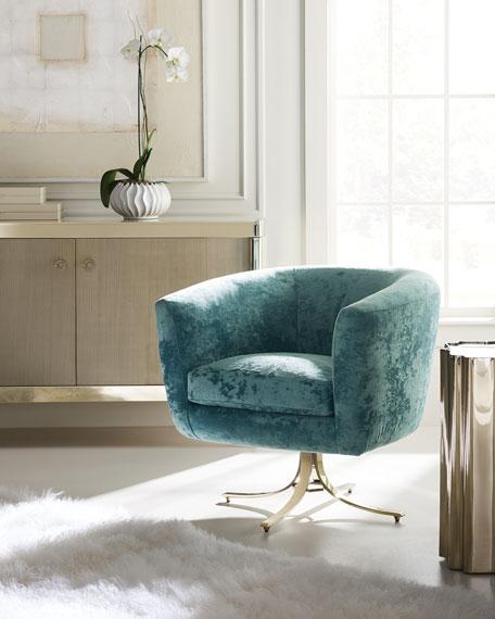"caracole Twirl Around Swivel Chair, 21"""