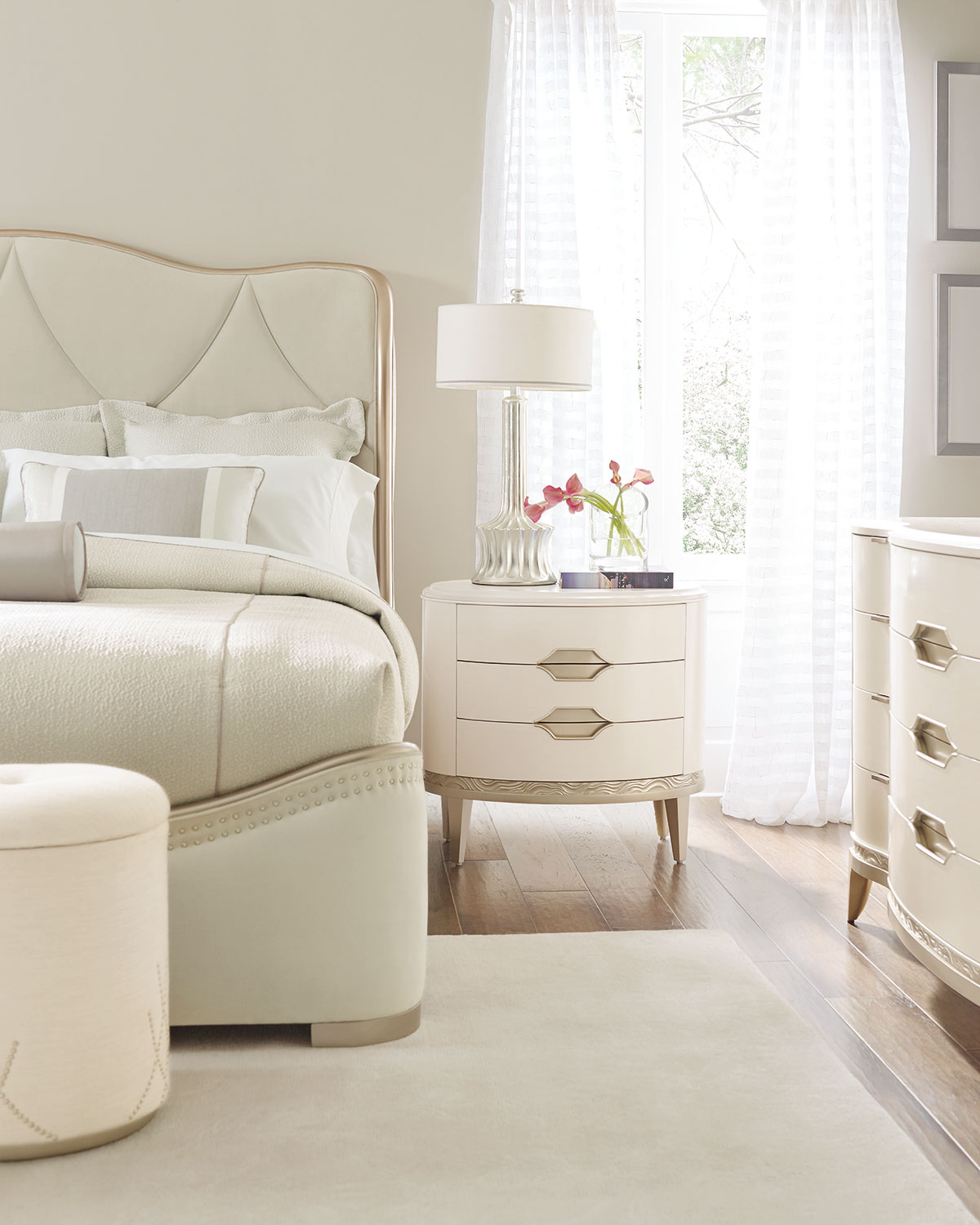caracole Adela Upholstered King Bed