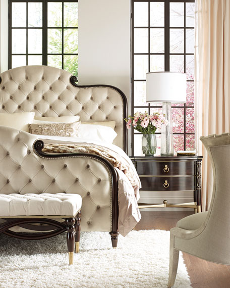 caracole Everly Upholstered & Tufted King Bed