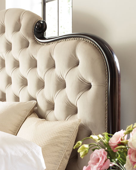 Image 4 of 4: caracole Everly Upholstered & Tufted Queen Bed