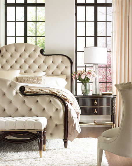 Image 1 of 4: caracole Everly Upholstered & Tufted Queen Bed