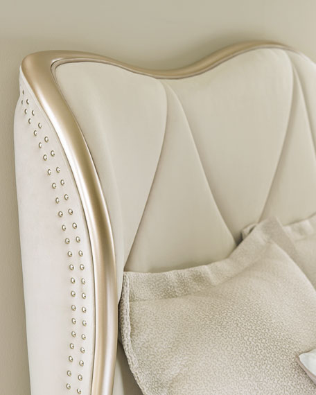 caracole Adela Upholstered California King Bed