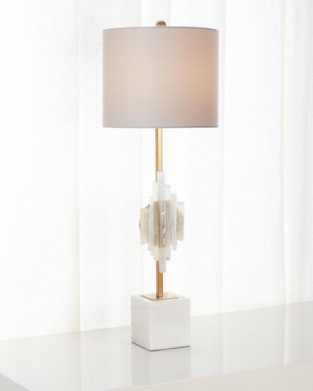 Selenite Buffet Lamp