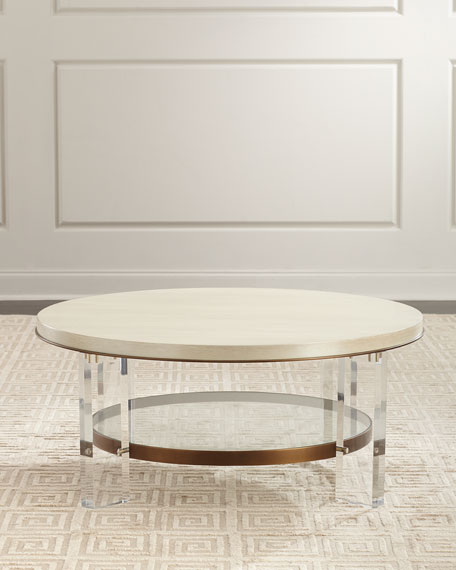Ambella Malone Acrylic-Leg Coffee Table and Matching Items