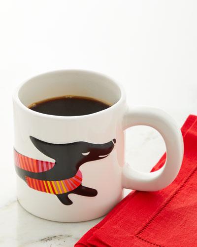 Sculpted Dog Ceramic Mug