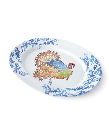 Vietri Gathered Turkey Platter