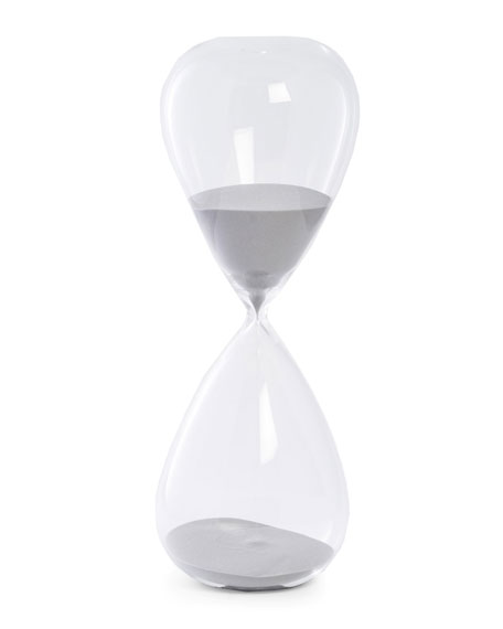 Bey-Berk Hand-Blown Crystal Sand Timer Hourglass (90 minute)