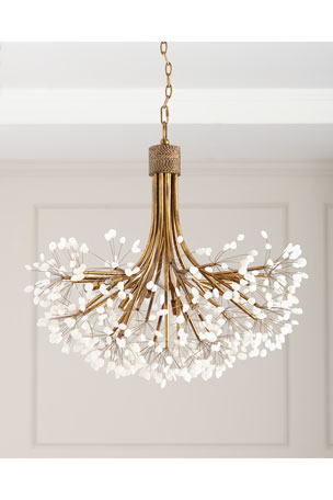 John-Richard Collection Quartz 9-Light Chandelier