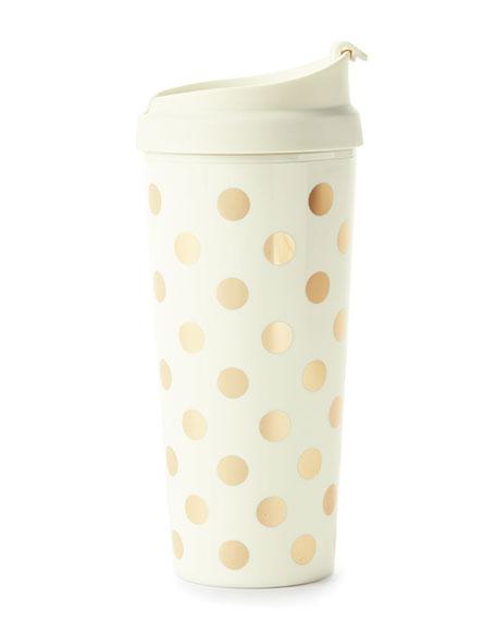 kate spade new york golden dots thermal mug