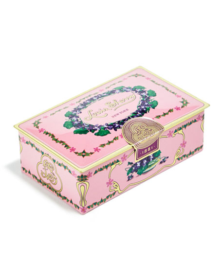 Louis Sherry Orchid Two-Piece Chocolate Truffle Tin