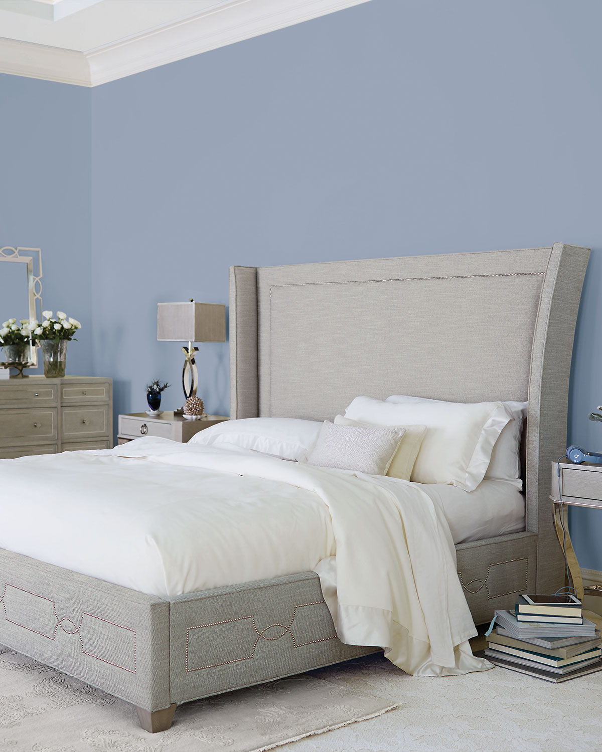 Bedroom Incredible Wingback Tufted Bed Your House Design